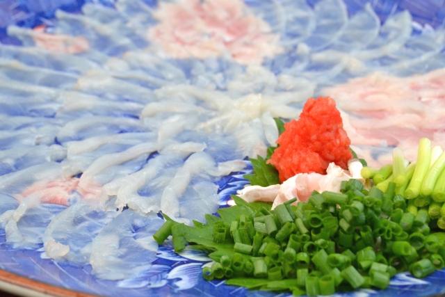 "thin sliced Sashimi of Fugu called ""Tessa"""