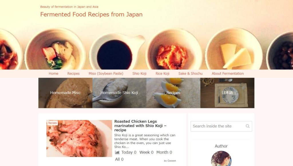 "my blog with cocoon ""Fermented Food Recipe from Japan"""